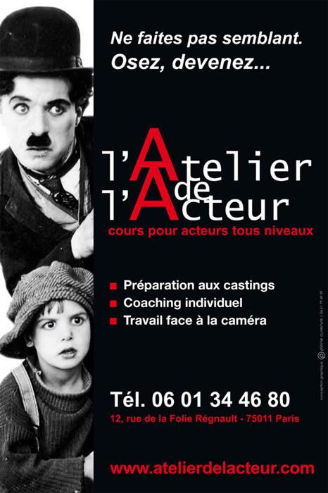 L atelier de l acteur - Compte parmi les meilleures écoles de Theatre de Paris