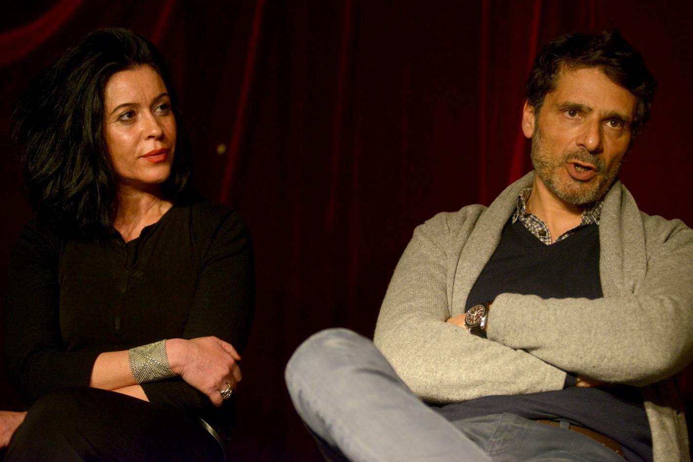 Pascal Elbé et Florence Nahon Directrice et professeur de l'Atelier de l'Acteur