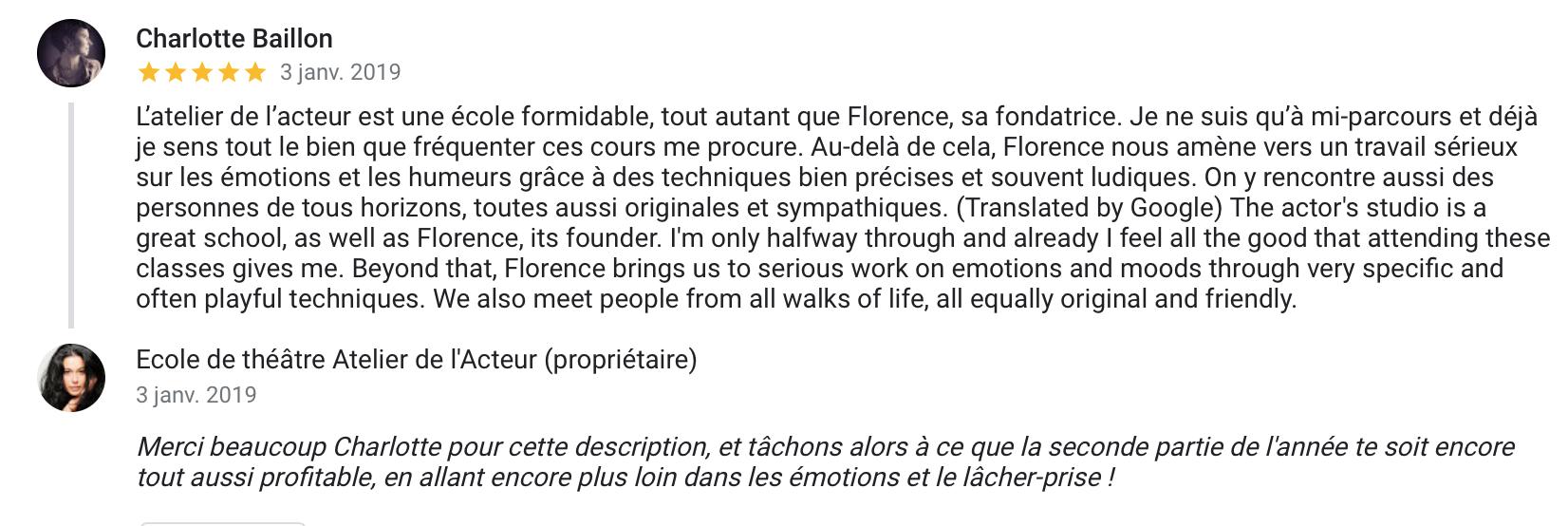 ecole acteur paris